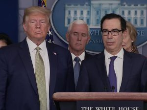 Trump presses for $1 trillion stimulus as U.S. coronavirus deaths cross 100